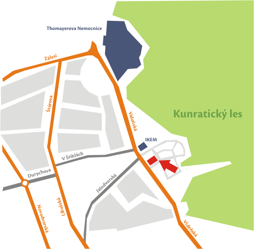 mapa bytových jednotek Malvazinky